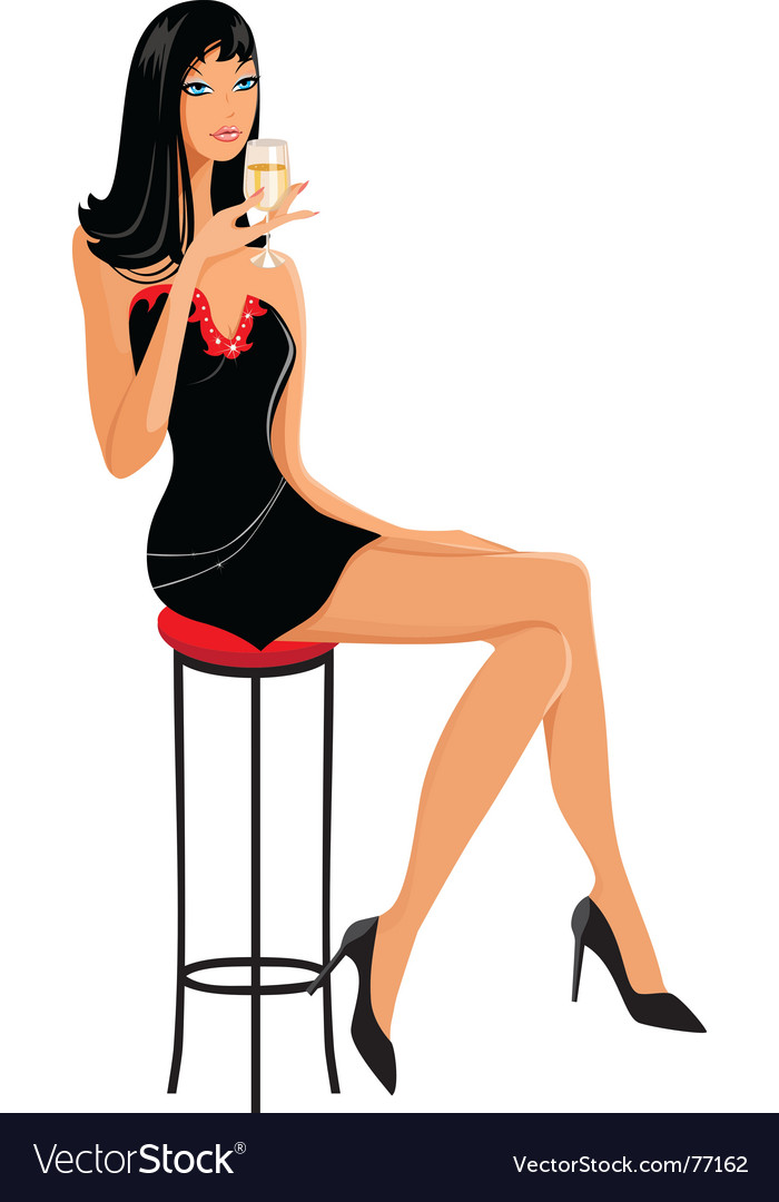 Slim girl vector | Price: 3 Credit (USD $3)