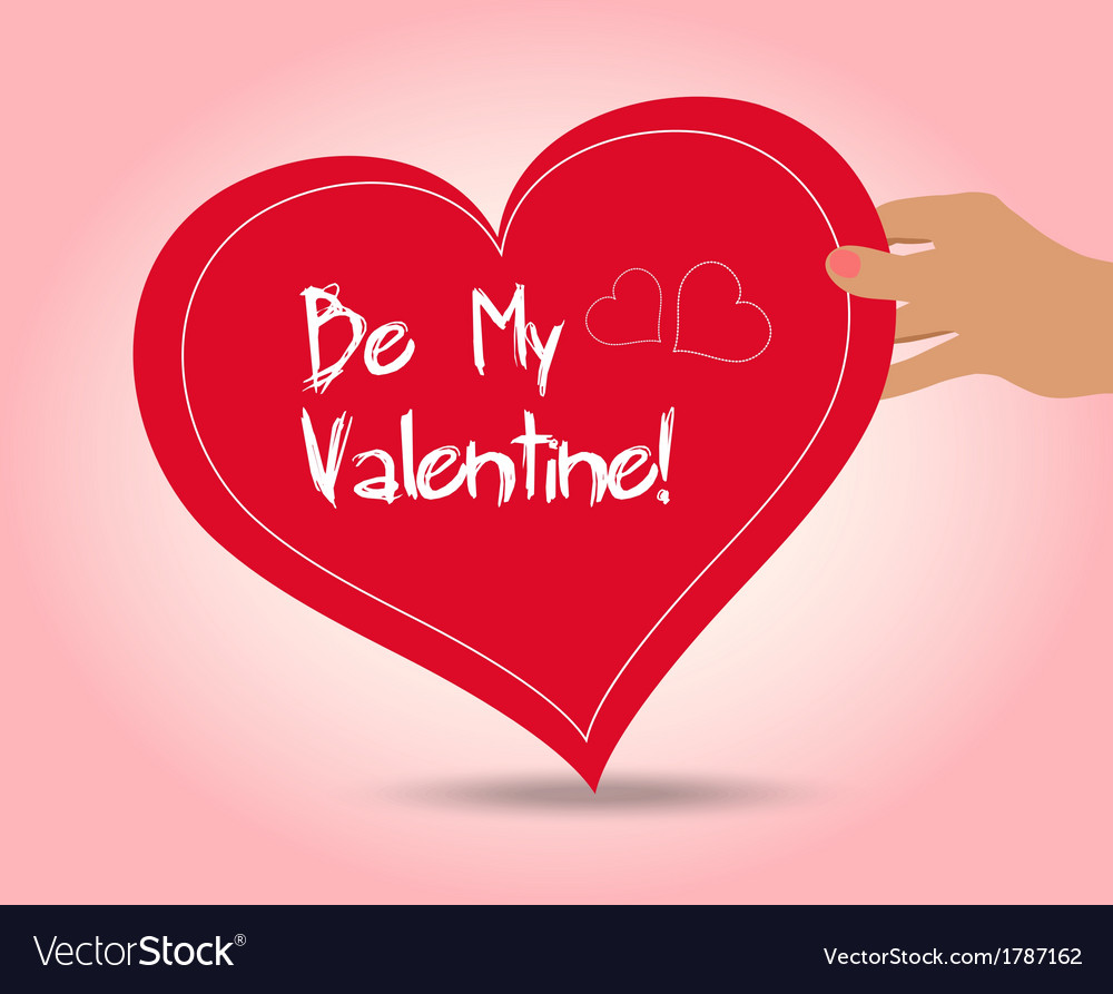 Valentine holding heart vector | Price: 1 Credit (USD $1)