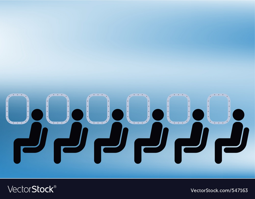 Airline passengers vector | Price: 1 Credit (USD $1)