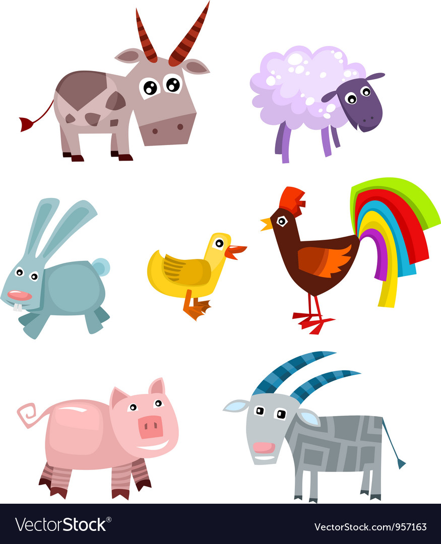 Animal set vector | Price: 3 Credit (USD $3)