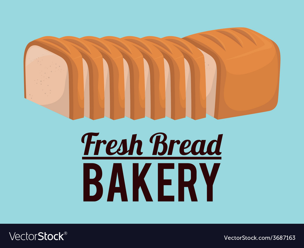 Bakery design over blue background vector | Price: 1 Credit (USD $1)