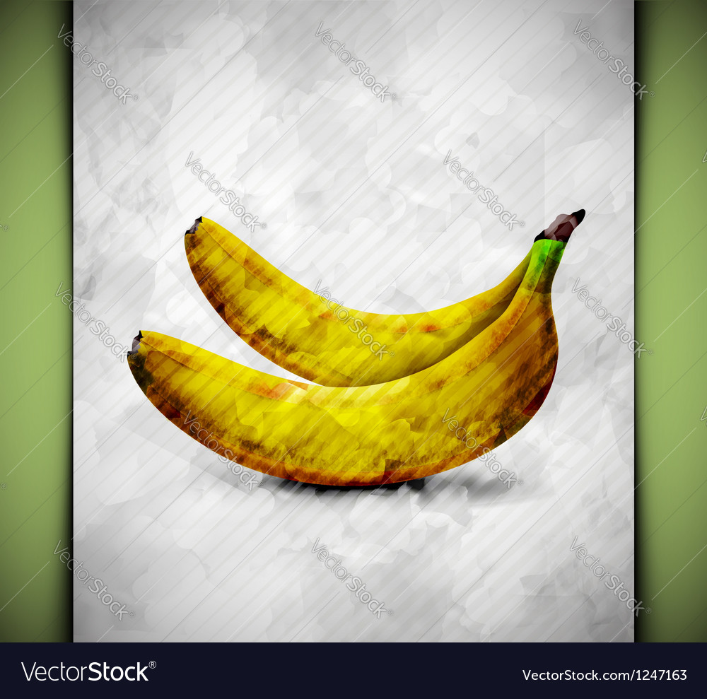 Banana watercolor vector | Price: 1 Credit (USD $1)