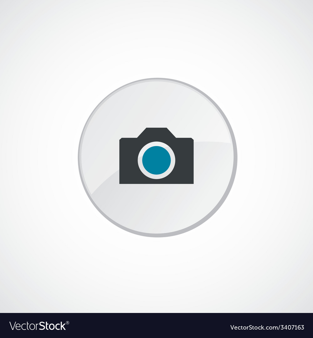 Camera icon 2 colored vector | Price: 1 Credit (USD $1)