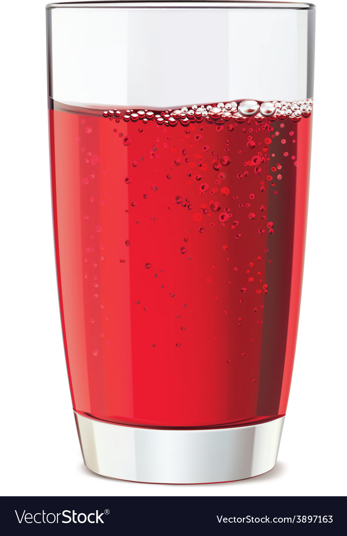 Glass of red juice vector | Price: 1 Credit (USD $1)