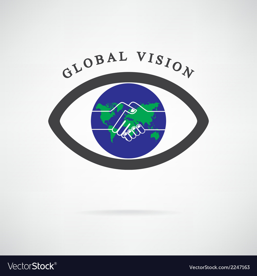 Global vision sign vector | Price: 1 Credit (USD $1)