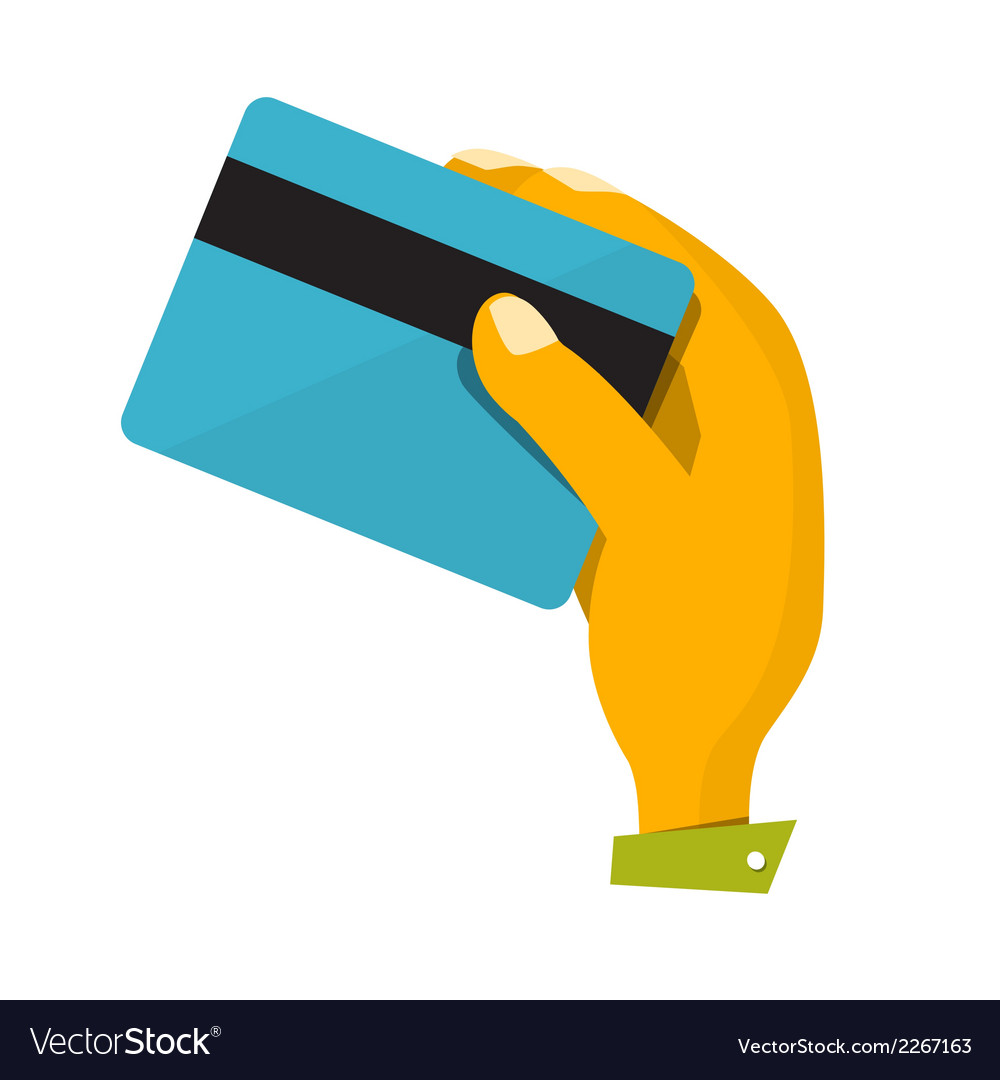 Hand with credit card vector | Price: 1 Credit (USD $1)