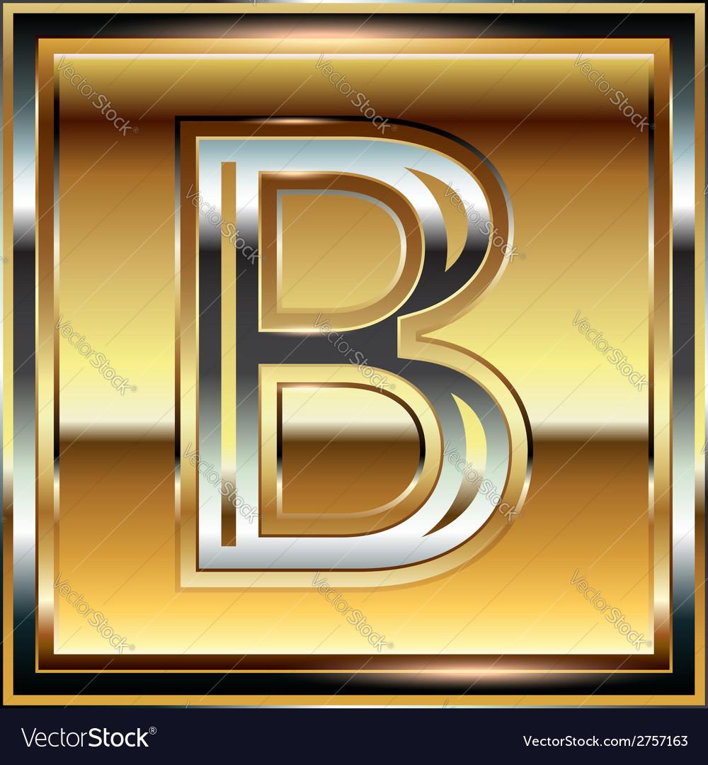 Ingot font letter b vector | Price: 1 Credit (USD $1)