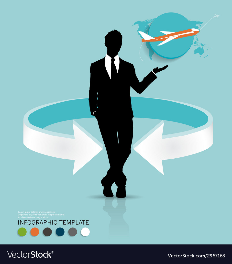 Modern infographics template style businessman vector | Price: 1 Credit (USD $1)