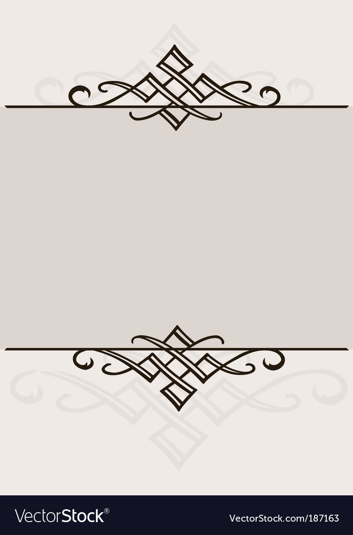Ornament frame vector | Price: 1 Credit (USD $1)