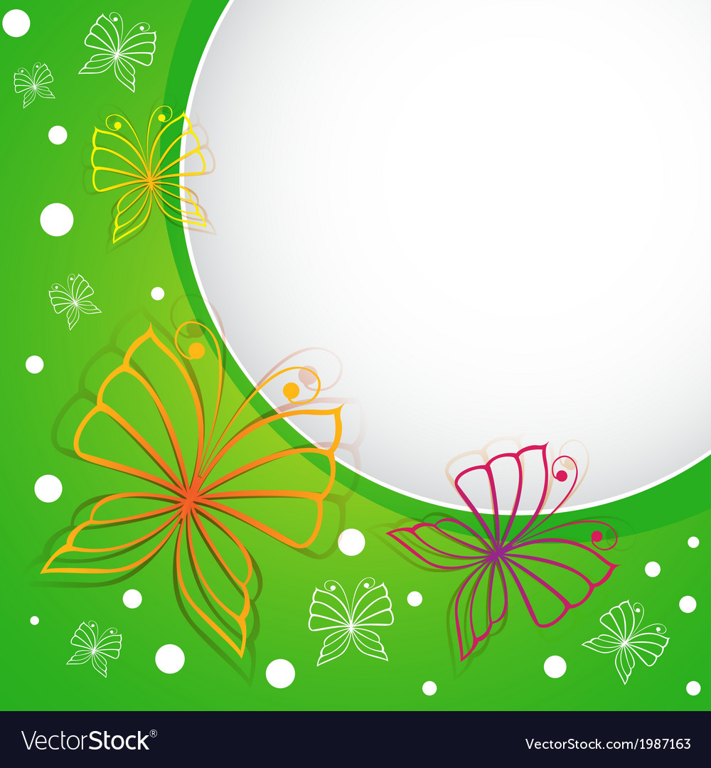 Spring template with butterflies vector | Price: 1 Credit (USD $1)