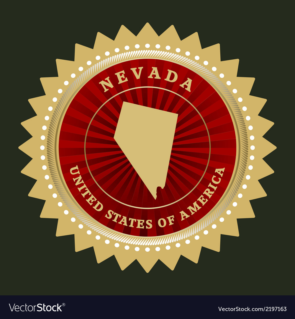 Star label nevada vector | Price: 1 Credit (USD $1)