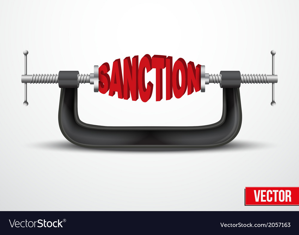 Symbol of sanctions vector | Price: 1 Credit (USD $1)