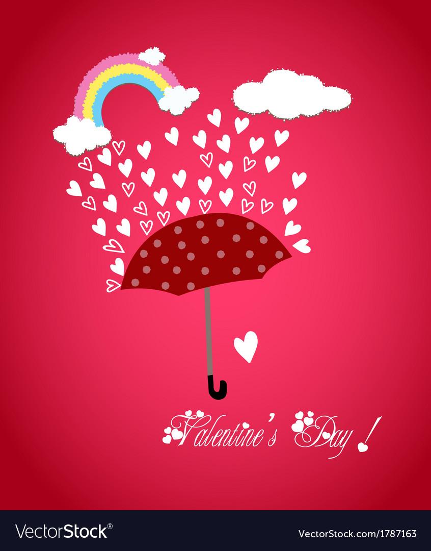 Valentine rainbow hearts vector | Price: 1 Credit (USD $1)