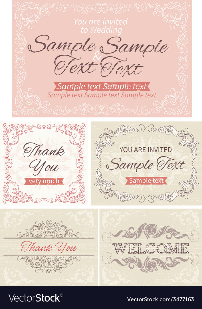 Vintage invitations and frames vector | Price: 1 Credit (USD $1)