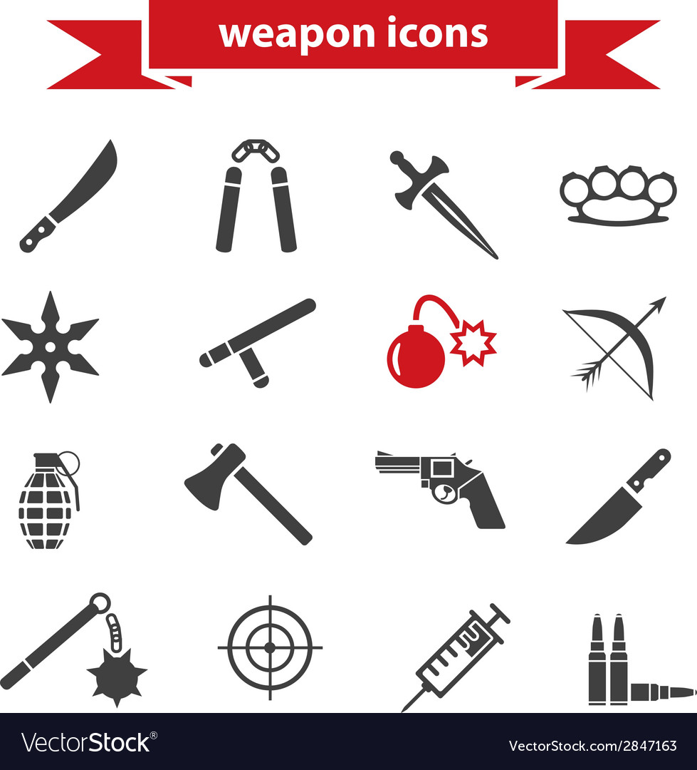 Weapon icons vector | Price: 1 Credit (USD $1)