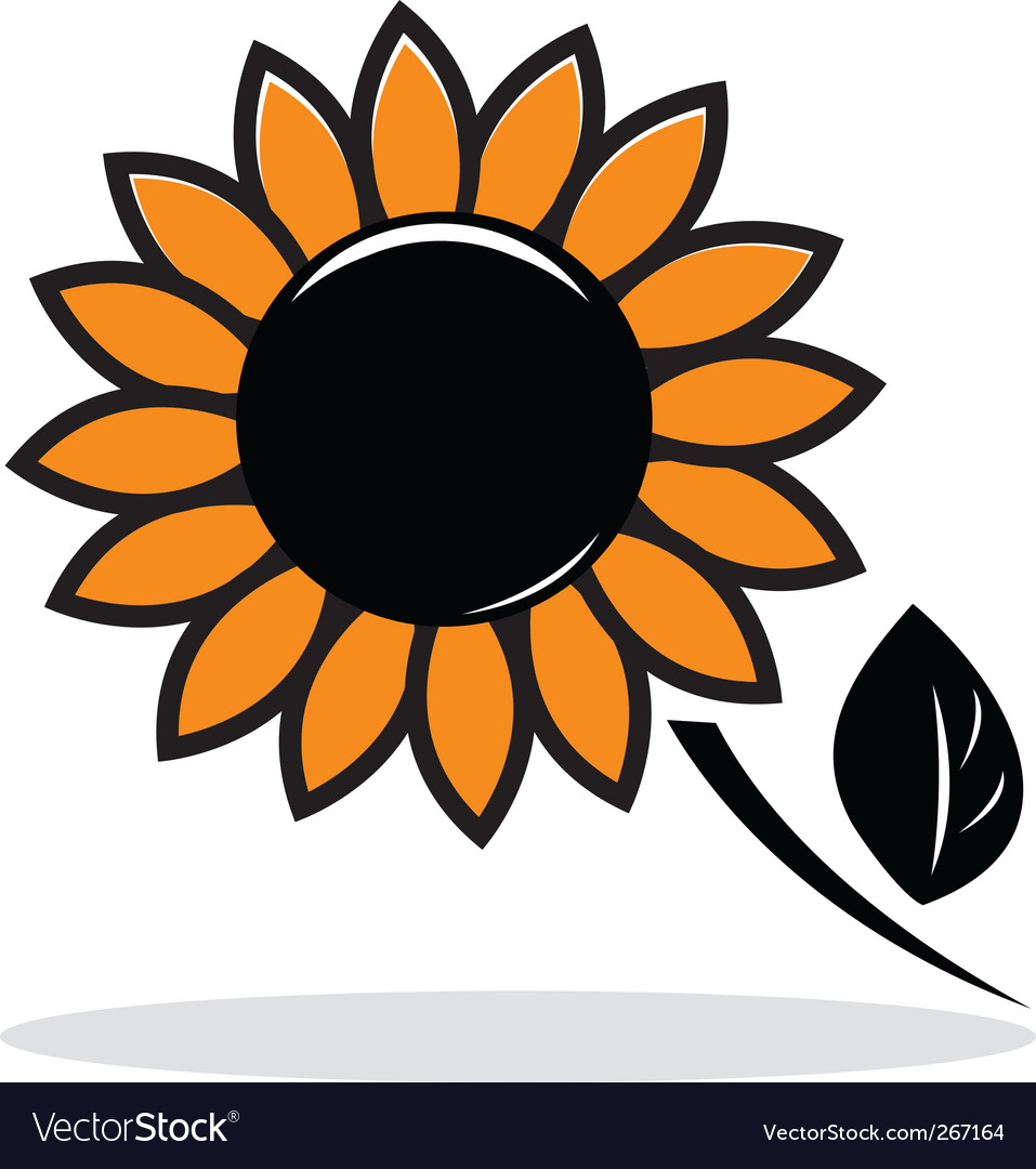 Abstract sunflower vector | Price: 1 Credit (USD $1)