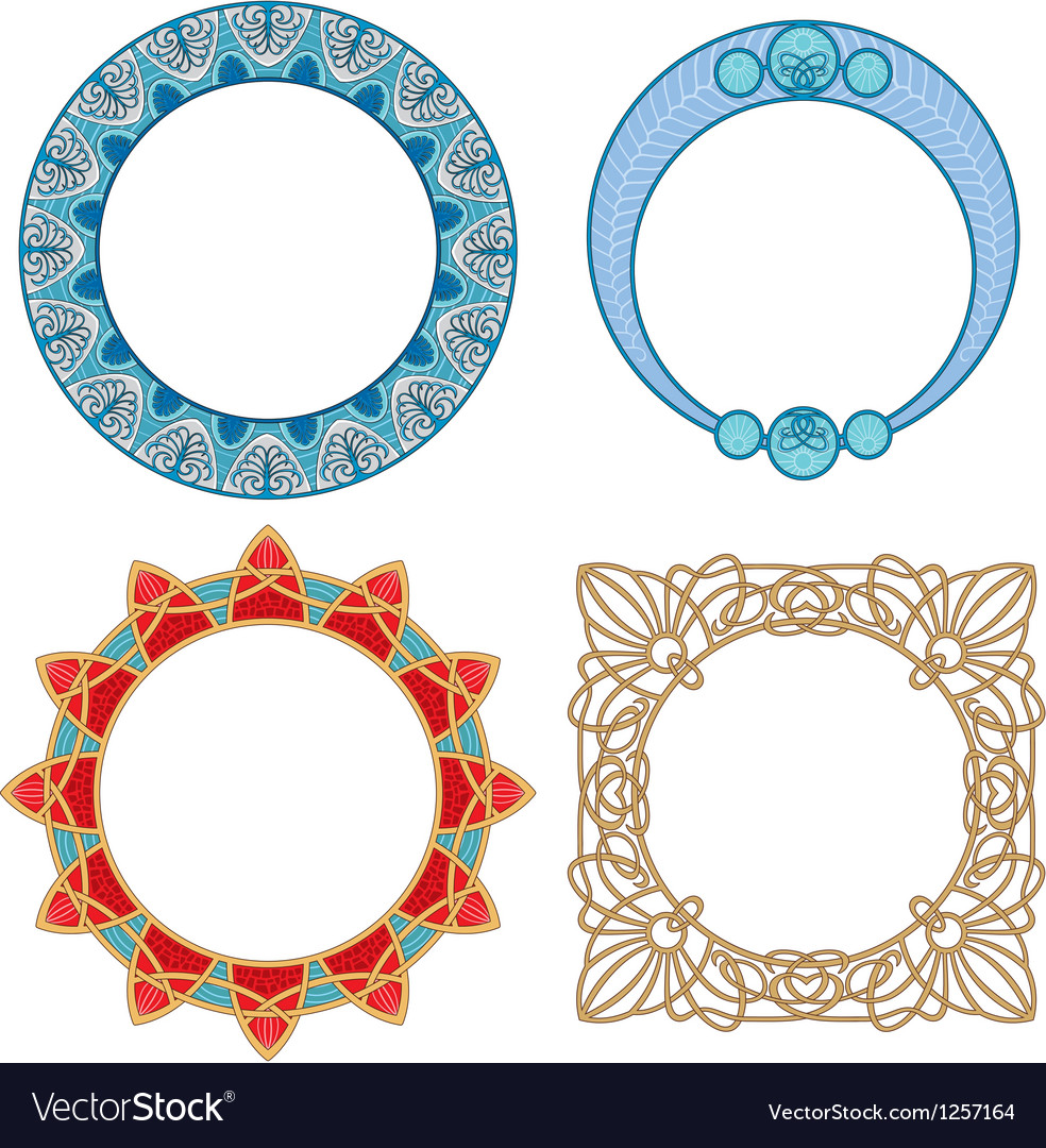 Art nouveau frame vector | Price: 1 Credit (USD $1)