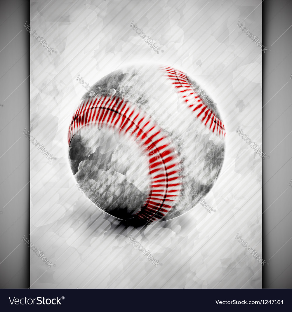 Baseball ball watercolor vector | Price: 1 Credit (USD $1)