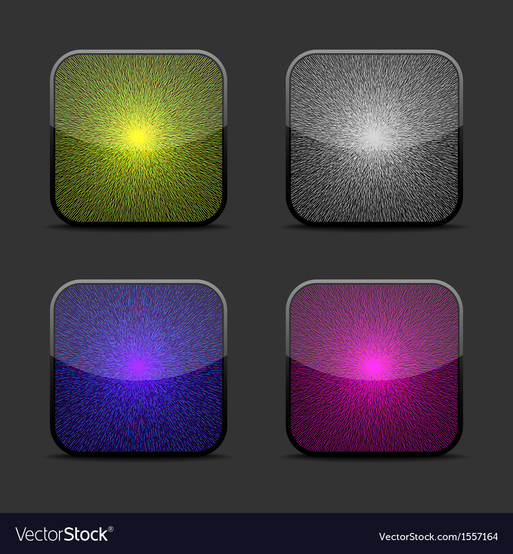 Collection of glow icon templates vector | Price: 1 Credit (USD $1)