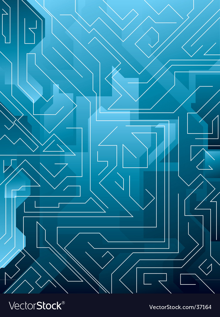 Electric blue maze vector | Price: 1 Credit (USD $1)