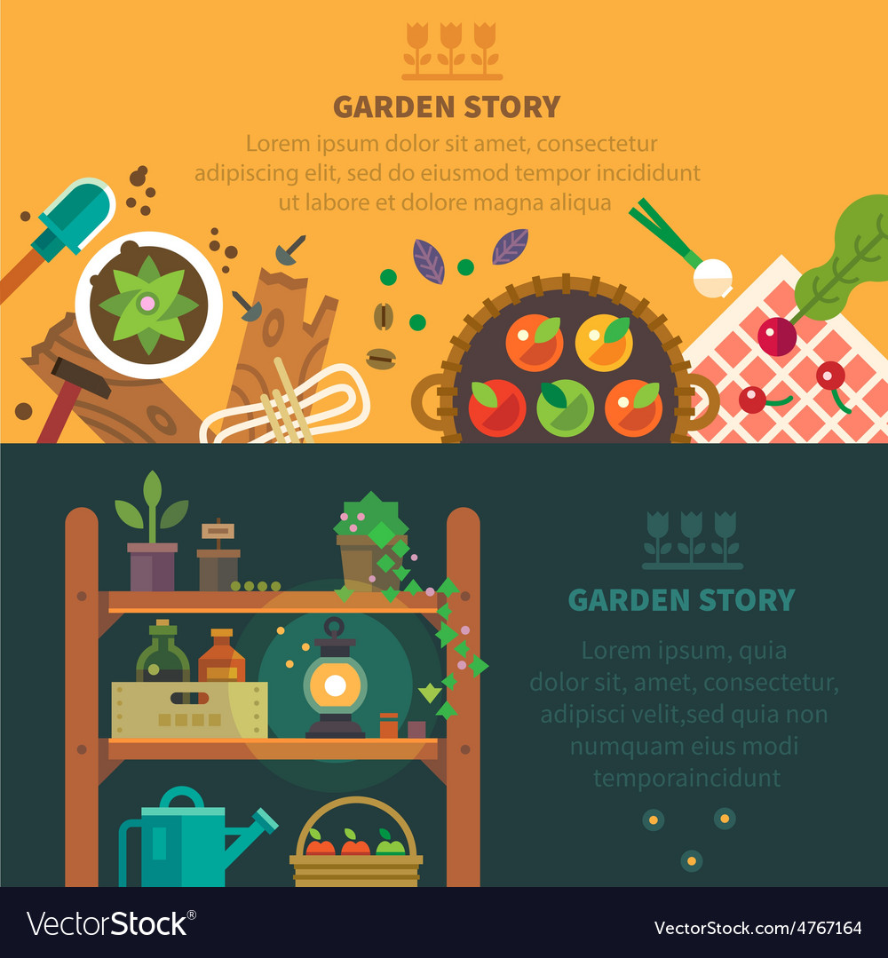 Garden backgrounds for site vector | Price: 3 Credit (USD $3)
