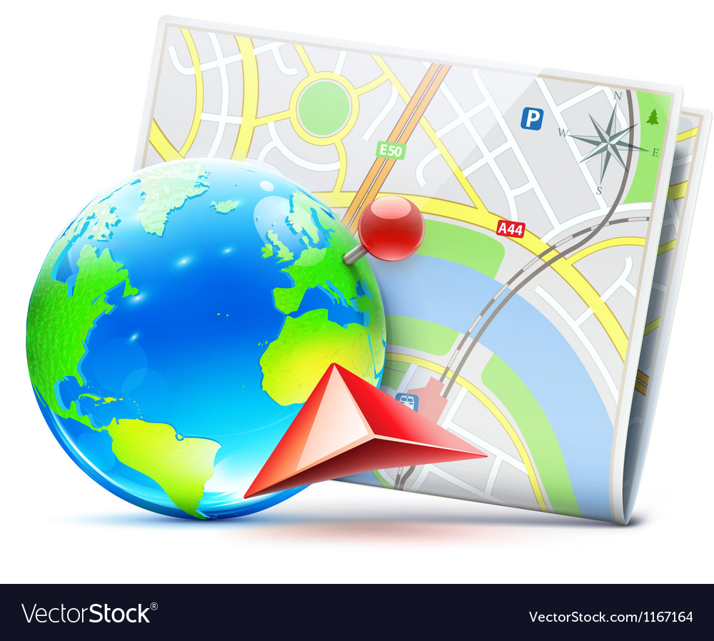 Global navigation concept vector | Price: 3 Credit (USD $3)