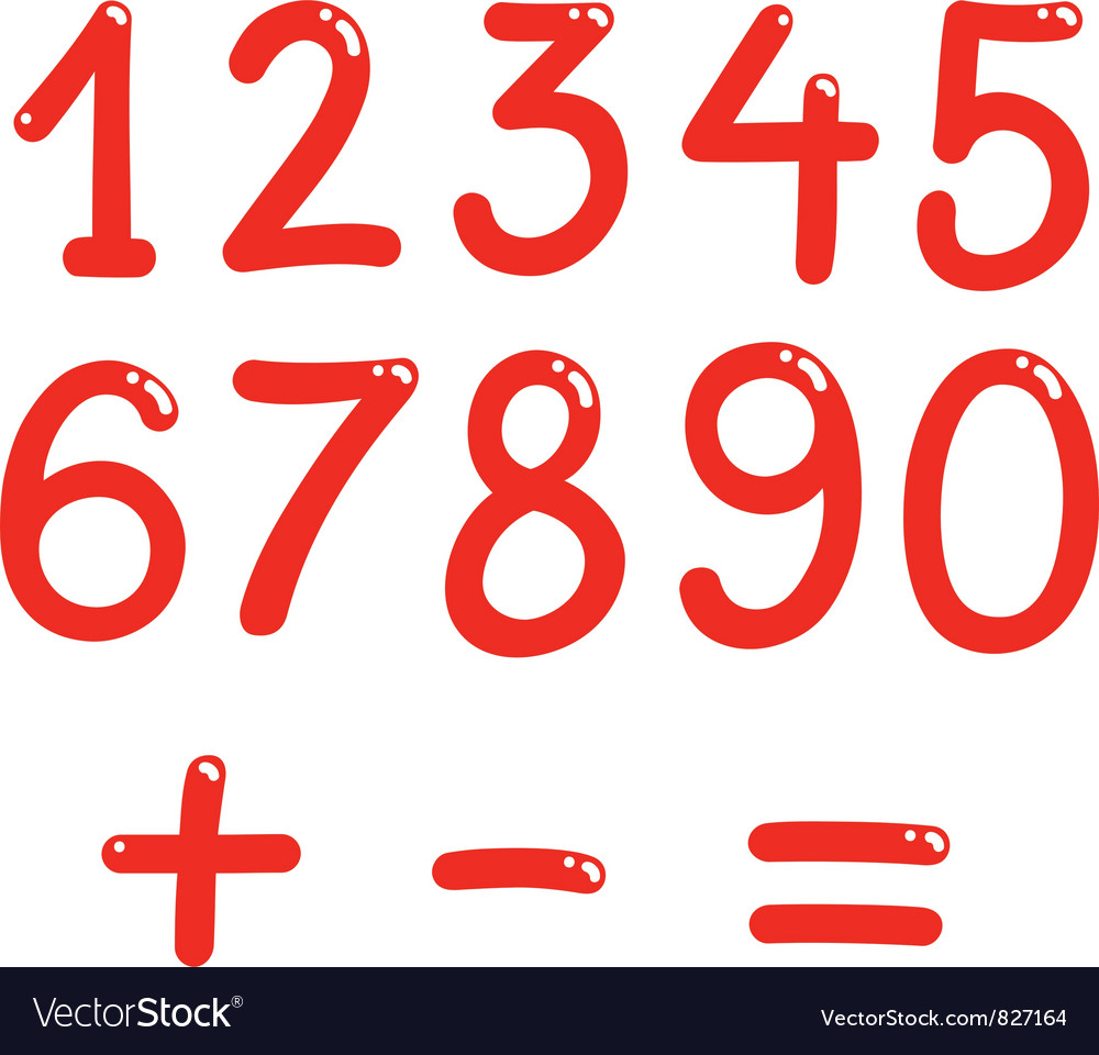 Numbers from zero to nine vector | Price: 3 Credit (USD $3)