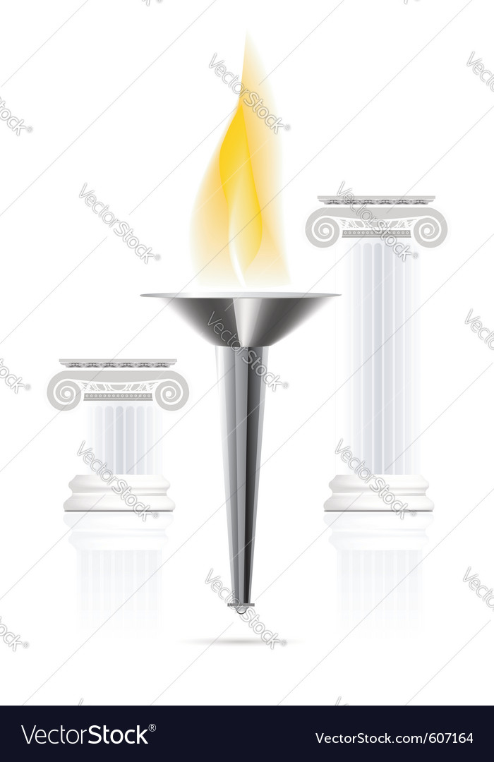 Olympic flame vector | Price: 1 Credit (USD $1)