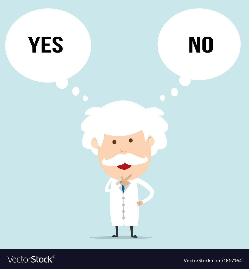Professor choosing choice vector | Price: 1 Credit (USD $1)