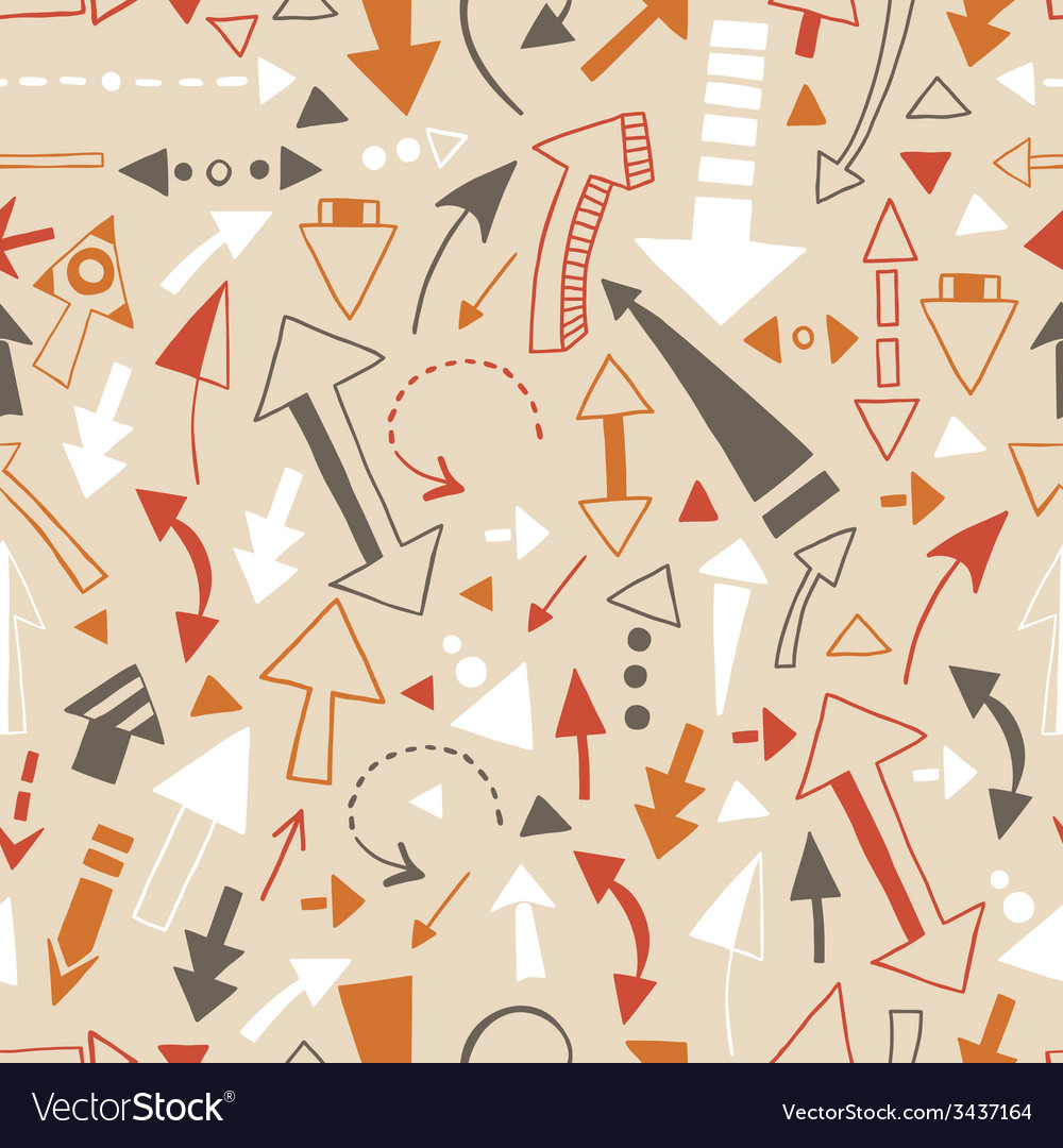 Seamless pattern of doodle arrows pointers vector | Price: 1 Credit (USD $1)