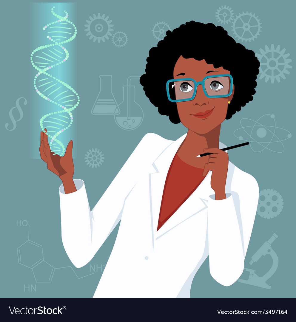 Woman in science vector | Price: 1 Credit (USD $1)