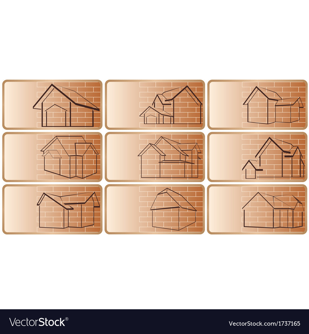 A business card with the cottage vector | Price: 1 Credit (USD $1)