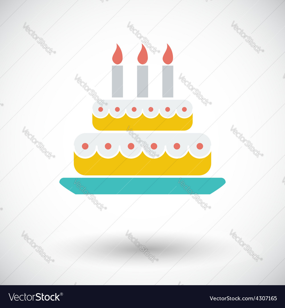 Cake icon vector   Price: 1 Credit (USD $1)