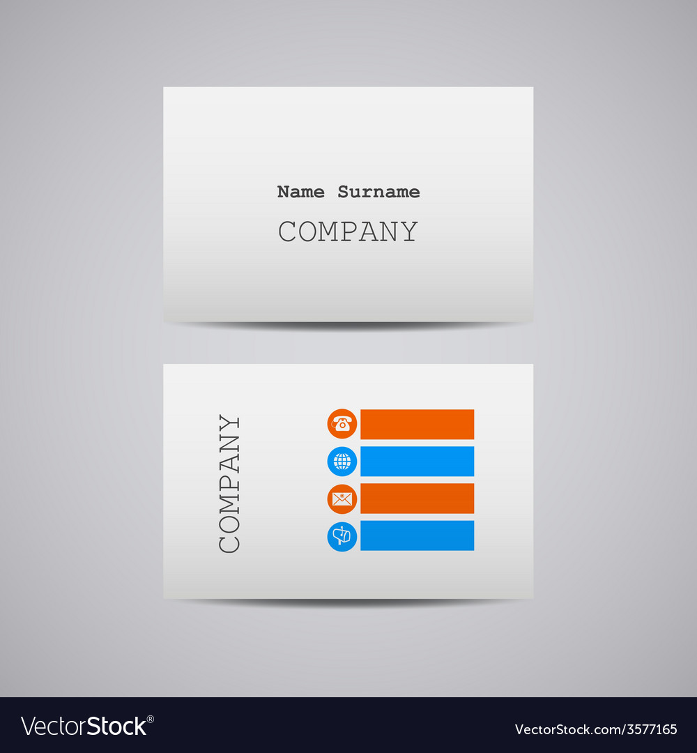 Creative white cardboard paper business card vector | Price: 1 Credit (USD $1)