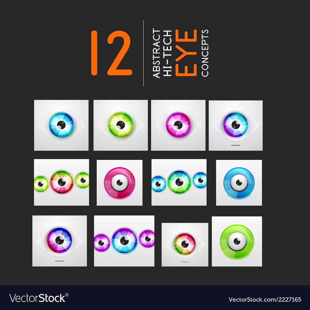 Eye design hi-tech concepts collection vector | Price: 1 Credit (USD $1)