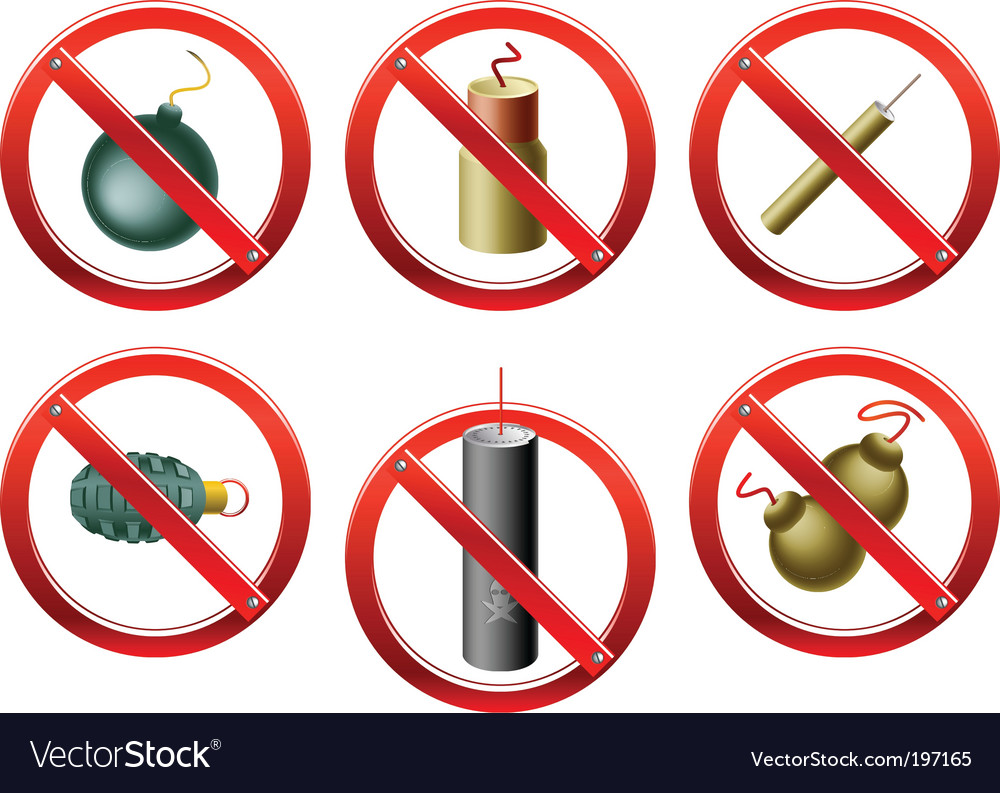 Firecrackers banned vector | Price: 1 Credit (USD $1)