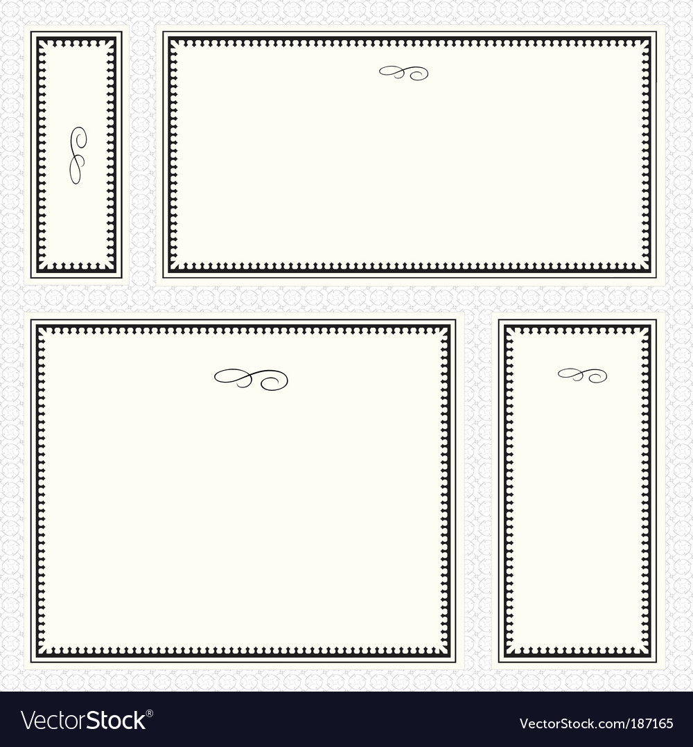 Frame set and seamless pattern vector | Price: 1 Credit (USD $1)