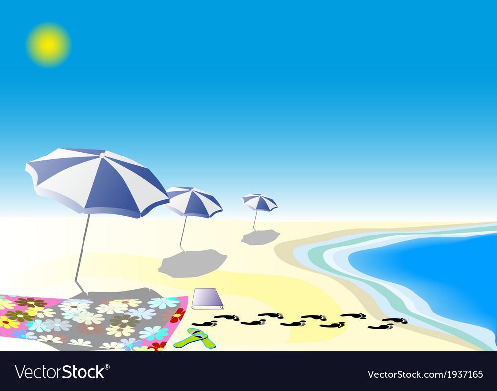 Parasol in blue vector | Price: 1 Credit (USD $1)