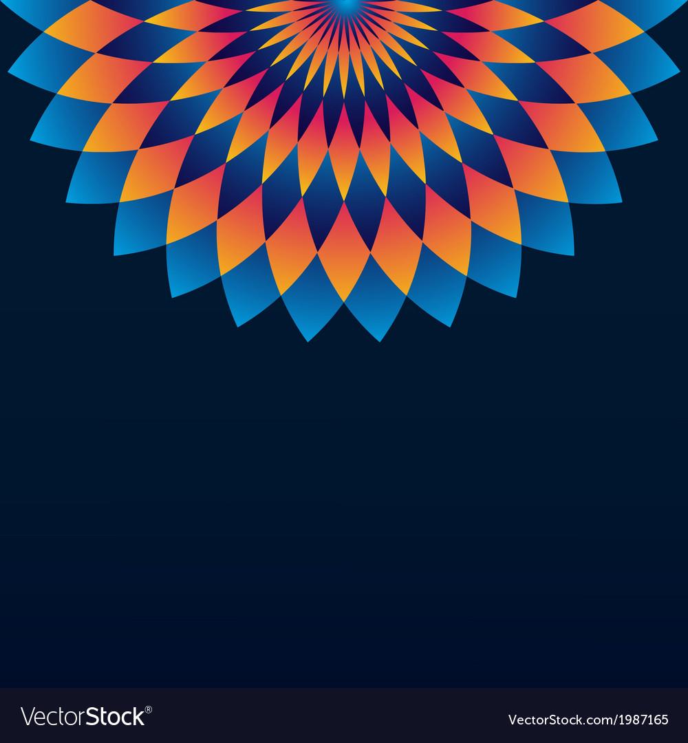 Pattern with circle ornament mandala and rhombus vector | Price: 1 Credit (USD $1)