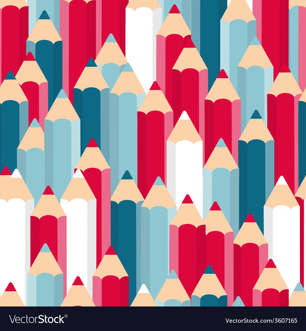 Pencils seamless pattern background vector | Price: 1 Credit (USD $1)