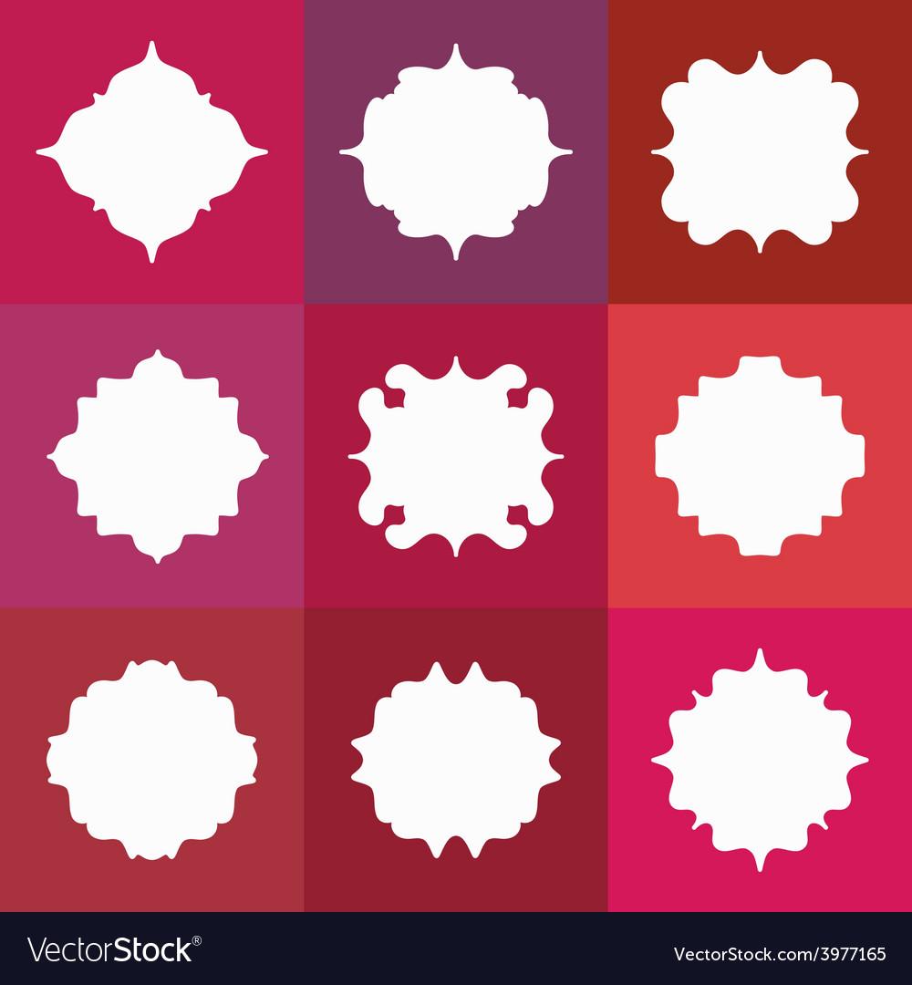 Set of elegant white badges or empty frames vector | Price: 1 Credit (USD $1)