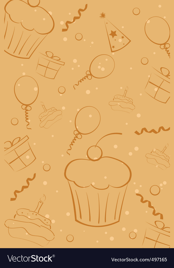 Sketchy birthday card vector | Price: 1 Credit (USD $1)