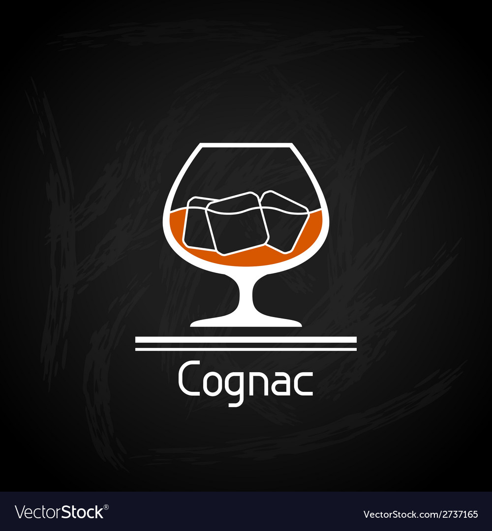 With glass of cognac for menu cover vector | Price: 1 Credit (USD $1)