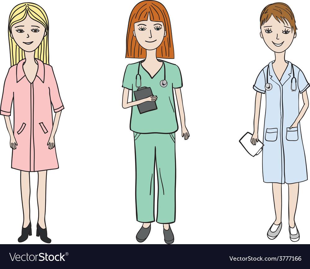 3 doctor woman vector   Price: 1 Credit (USD $1)