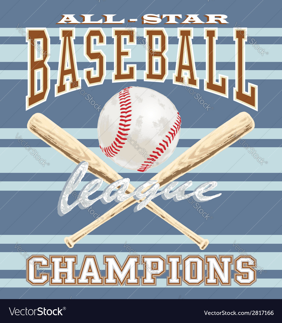 Baseball league vector | Price: 3 Credit (USD $3)