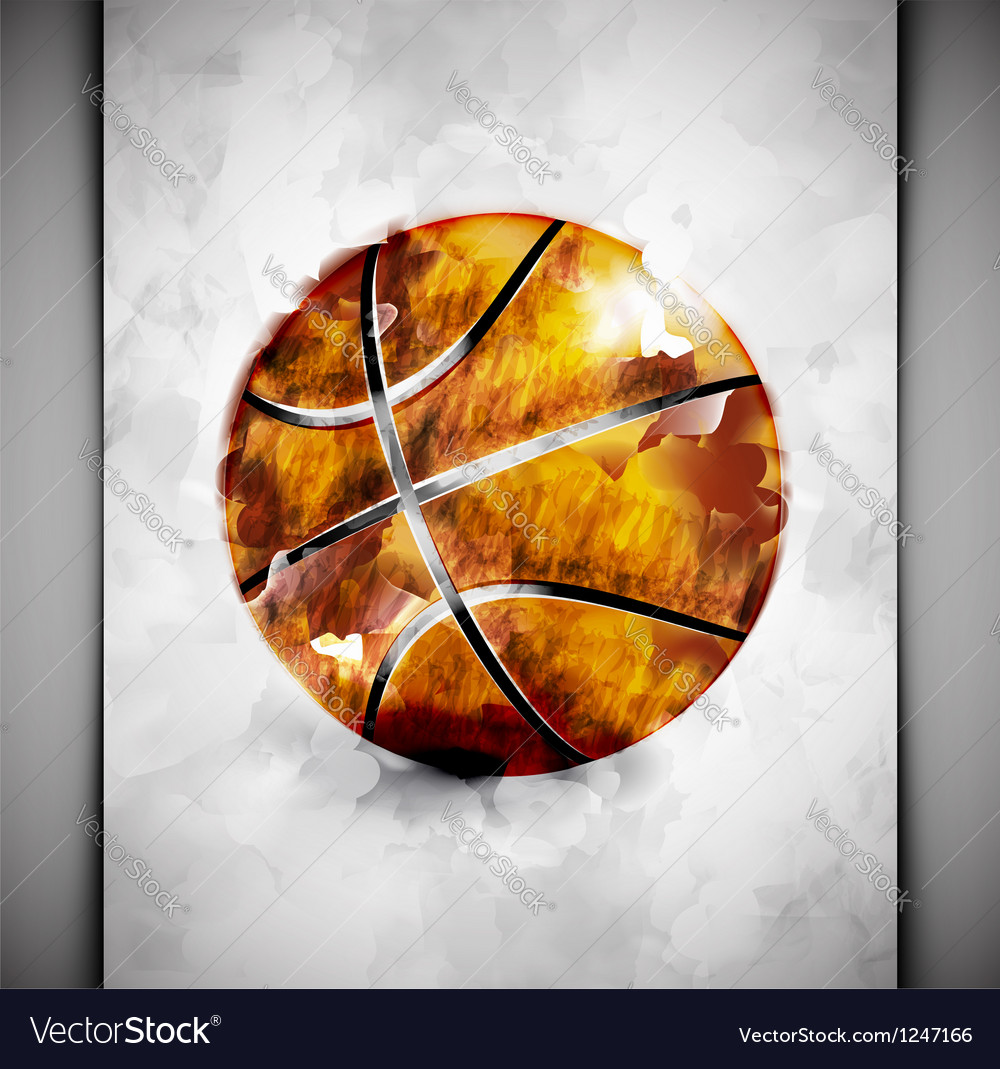 Basketball ball watercolor vector | Price: 1 Credit (USD $1)