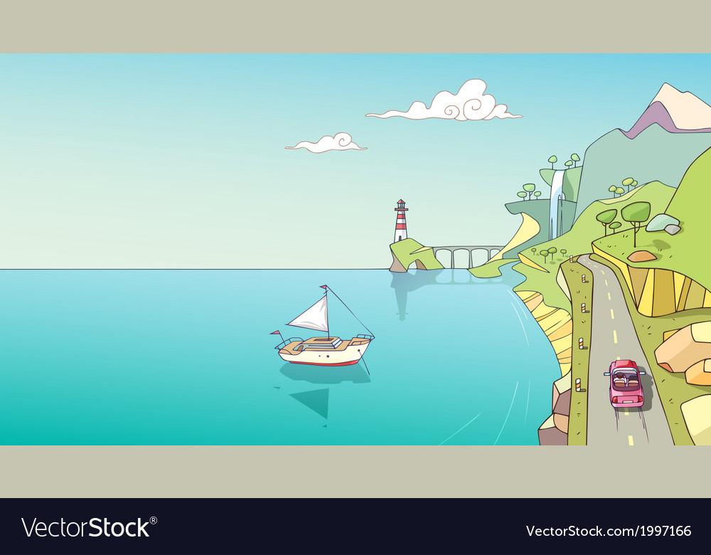 Coastline vector   Price: 1 Credit (USD $1)