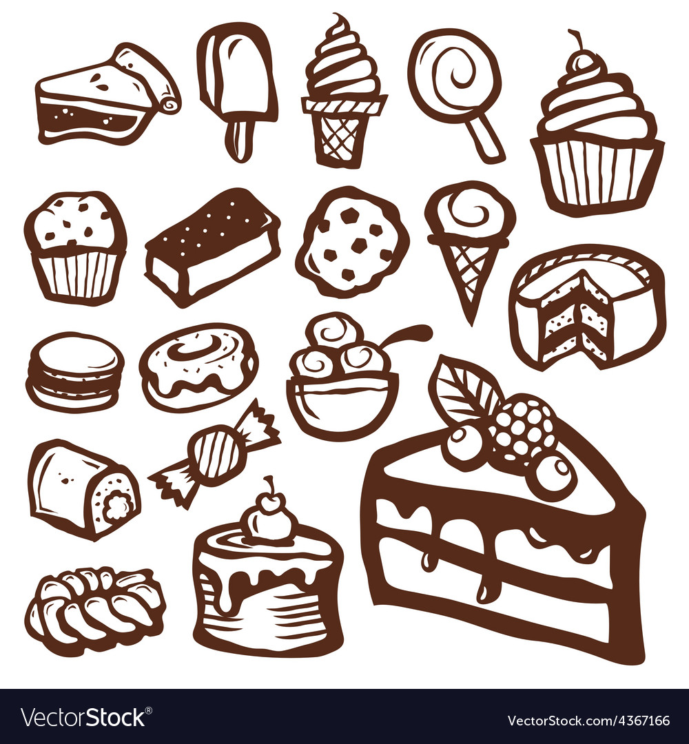 Dessert and baking icons vector | Price: 1 Credit (USD $1)