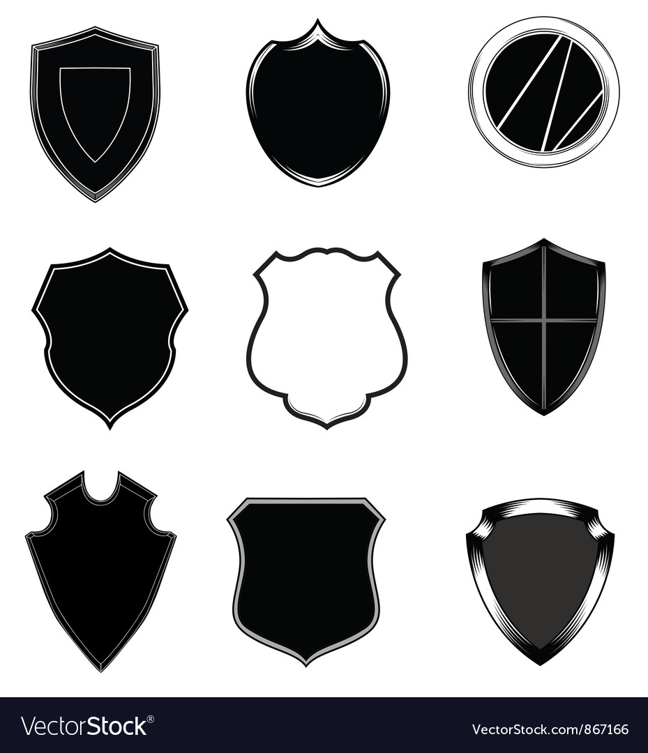 Shield set vector | Price: 1 Credit (USD $1)