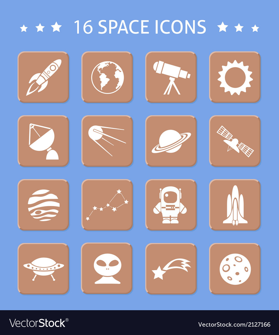 Space and astronomy buttons vector | Price: 1 Credit (USD $1)